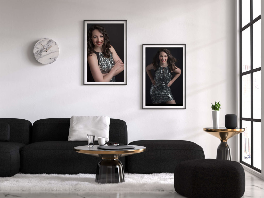 woman glamour pictures framed in living room